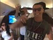 بالفيديو.. رونالدو يبدأ العطلة الصيفية برقصة غريبة