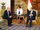 بالصور.. السيسى لوزير خارجية فرنسا: يجب اتخاذ مواقف صارمة لوقف تمويل تنظيمات الإرهاب