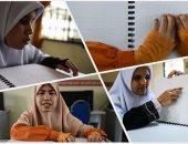 """""""نور على نور"""".. كفيفات ماليزيا يقرأن القرآن على طريقة """"برايل"""""""