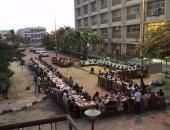 بالصور ..جامعة المنيا تنظم إفطار جماعى لمسلمى ومسيحى طلبة سياحة وفنادق