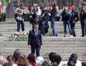 بالصور.. إيمانويل ماكرون يشارك فى إحياء الذكرى 73 لمذبحة أورادور سور جلان