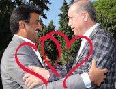 """شاهد فى دقيقة..  """"أردوغان وتميم"""" غرام فى أحضان الإرهاب"""