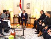 الرئيس السيسي يعرب عن تطلع مصر لتعزيز الاستفادة من نظام التعليم الألمانى