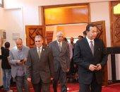 بالصور .. رئيس جامعة المنوفية يفتتح مسجد المجمع الطبى