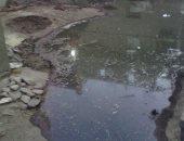 """بالصور.. مياه الصرف تغرق شوارع """"زاوية أبو إبراهيم"""" بالمحلة الكبرى"""