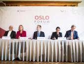 بالصور.. بدء فعاليات منتدى أوسلو بمشاركة وزراء خارجية إيران وإندونيسيا والنرويج