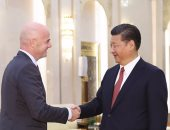 بالصور.. رئيس الصين يستقبل إنفانتينو لمناقشة تطوير كرة القدم