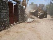 إزالة 39 حالة تعدى فى بنى سويف على الزراعات وأملاك الدولة