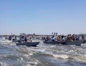 هيئة الثروة السمكية: تطهير 26 مليون متر من مسطح بحيرة المنزلة