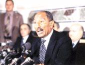 """فيديو.. """"إسرائيل بالعربية"""" تنشر مقتطفات من خطاب السادات بالكنيست عام 1977"""