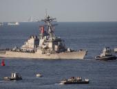مدمرة أمريكية تبحر فى بحر الصين الجنوبى المتنازع عليه