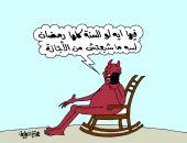 """عفوا.. الشيطان فى رمضان """"خارج الخدمة"""" ..بكاريكاتير """"اليوم السابع"""""""