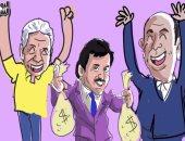 """بالفيديو كاريكاتير .. حكاية عبده ومشتاق والأمير """"ذميم"""" وقناة """"الحظيرة"""""""