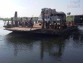 مصرع 3 أشخاص فى حادث سقوط السيارة من أعلى معدية النيل ببنى سويف