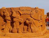 """بالصور.. إنطلاق مهرجان """" ديزنى ماجيك للنحت على الرمال"""" ببلجيكا"""
