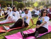 بالصور..السفارة الهندية تنظم مهرجان اليوجا بقصر البارون بحضور السفير