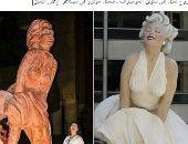"""مثقفون يسخرون من تمثال مارلين مونرو: """"عندها دوالى الساقين"""""""