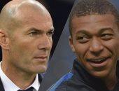 زيدان يتحدث سرا مع مبابي لإقناعه بالإنضمام ريال مدريد