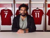"""محمد صلاح فى صورة جديدة له من داخل غرفة خلع الملابس بـ""""ليفربول"""""""