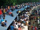 بالصور.. زحام شديد على محطات القطارات ببنجلاديش لحجز تذاكر عيد الفطر