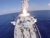 """بالفيديو والصور.. لحظة قصف البحرية الروسية مواقع لتنظيم """"داعش"""" فى سوريا"""