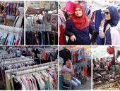 وكالة البلح ملاذ الفقراء والأغنياء لشراء ملابس العيد
