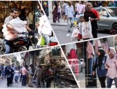 """""""وسط البلد"""" قبلة المواطنين لشراء الكعك وملابس العيد"""