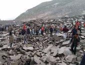 ارتفاع حصيلة ضحايا الانهيار الأرضى فى الصين لـ 15 قتيلا