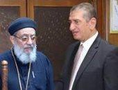 وفد الكنيسة الأرثوذكسية يقدم التهنئة لمحافظ كفر الشيخ بمناسبة عيد الفطر