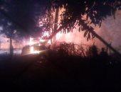 """السيطرة على حريق كشك وأشجار داخل حديقة الحيوان والسبب """"سيجارة"""""""