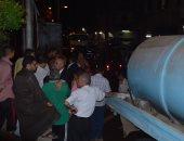 بالصور ..رئيس مدينه المحلة الكبرى يتابع مشكلة الصرف الصحى