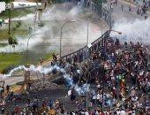 بالصور.. مظاهرات وأعمال عنف فى فنزويلا تنديدا بقمع قوات الأمن