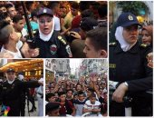بالصور.. الشرطة النسائية تؤمن سينمات وسط البلد للتصدى للمتحرشين