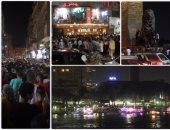 زحام شديد فى شوارع وميادين وسط البلد أول أيام العيد