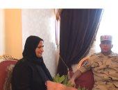 الفيديو والصور.. قائد الجيش الثالث يزور أسرة مجند شهيد فى أول أيام عيد الفطر