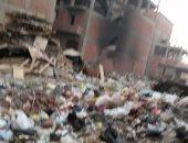 القمامة تتراكم وسط الكتلة السكنية فى منشية النور ببنها