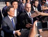 بالصور.. رئيس كوريا الجنوبية يتجول فى شوارع واشنطن قبل لقائه ترامب