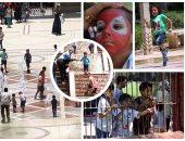 السيلفى وأطفال النافورة أبرز مظاهر الاحتفال بـ30 يونيو فى الحدائق