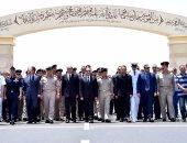 بالصور.. الرئيس السيسى يتقدم الجنازة العسكرية لقائد المنطقة الشمالية