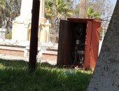 كابينة كهرباء مفتوحة بالحديقة الدولية فى الإسكندرية تهدد حياة الزوار