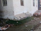 أهالى منية دمياط يشكون طفح مياه الصرف الصحى وسوء حالة الطرق الداخلية