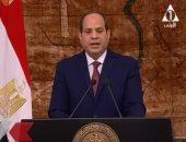 السيسي: شعب مصر لم ولن يقبل سطوة أى جماعة أو فئة حتى لو تسترت برداء الدين