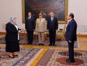رؤساء الهيئات القضائية الجدد يؤدون اليمين القانونية أمام الرئيس السيسى