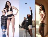 """بالصور.. أطول عارضة أزياء فى العالم طولها 206 سم.. طول ساقيها فقط 133 سم ومقاس حذائها 47.. تركت كرة السلة لعرض الأزياء.. حصلت على جائزة """"أطول ساقين فى العالم"""".. وتحلم بتحطيم الرقم القياسى العالمى فى الطول"""