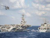 بالصور..مسئول أمريكى: حاملة طائراتنا بالمتوسط مستعدة لحماية حلفائنا فى سوريا