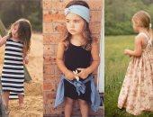 """بالصور.. فساتين أطفال رقيقة مناسبة للبحر.. """"لبسيها الفستان أبو ورد"""""""