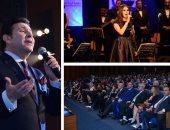 هانى شاكر يشدو بأجمل أغانيه فى الحفل الخيرى لمنظمة المرأة العربية