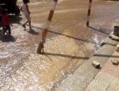"""استجابة لـ""""اليوم السابع"""".. مياه شرب القاهرة تؤكد إصلاح خط مياه حدائق القبة"""