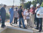 بالصور ..رئيس منطقة القناه لمياه الشرب يحيل رئيس منطقة القصاصين للتحقيق