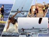 الرياضات الشاطئية هواية رواد شواطئ بورسعيد